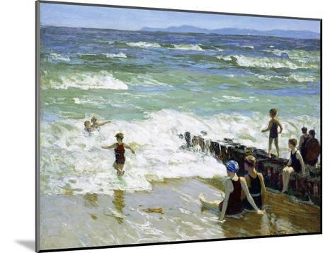 Bathers at Breakwater-Edward Henry Potthast-Mounted Giclee Print