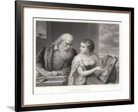 Philosophy and Art-Daniel Huntington-Framed Art Print