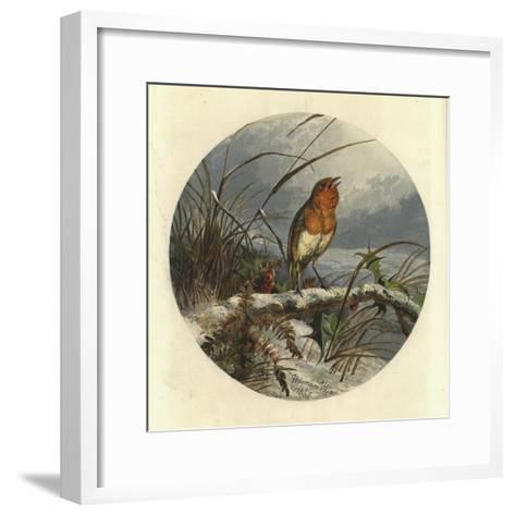 The Christmas Carol Singer-Harrison William Weir-Framed Art Print