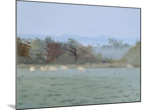 Sheep Grazing; Misty Morning, 1993-Gillian Furlong-Mounted Giclee Print