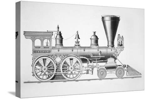 The 'JB Turner' Locomotive, 1867--Stretched Canvas Print