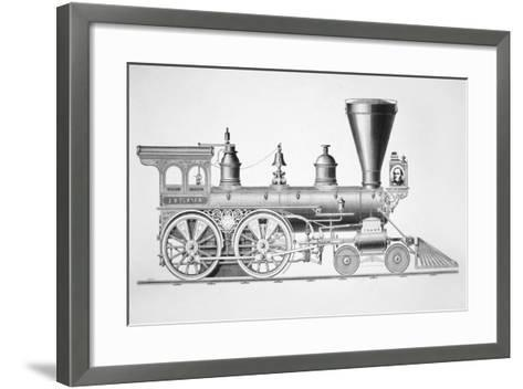 The 'JB Turner' Locomotive, 1867--Framed Art Print