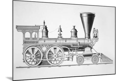 The 'JB Turner' Locomotive, 1867--Mounted Giclee Print