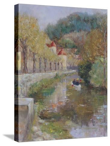 Canal at Noyers, Burgundy, 2002-Karen Armitage-Stretched Canvas Print