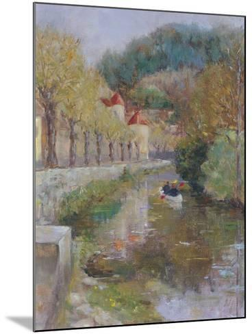 Canal at Noyers, Burgundy, 2002-Karen Armitage-Mounted Giclee Print