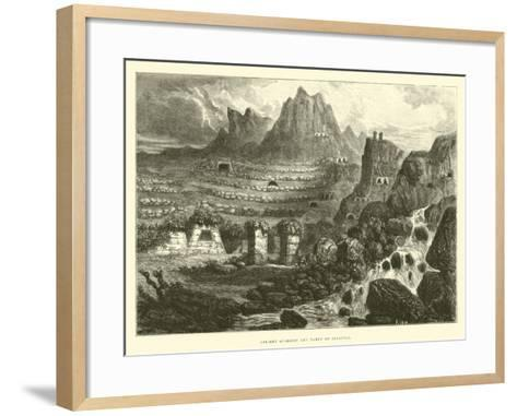 Ancient Quarries and Tampu of Ollantay-?douard Riou-Framed Art Print