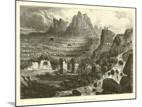 Ancient Quarries and Tampu of Ollantay-?douard Riou-Mounted Giclee Print