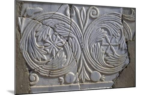 Bas-Relief in Avdat--Mounted Photographic Print