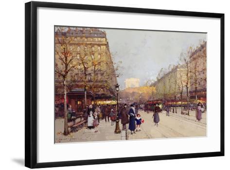 Les Champs Elysees, Paris-Eugene Galien-Laloue-Framed Art Print