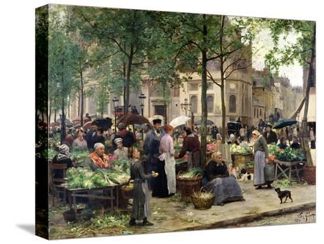 The Square in Front of Les Halles, 1880-Victor Gabriel Gilbert-Stretched Canvas Print