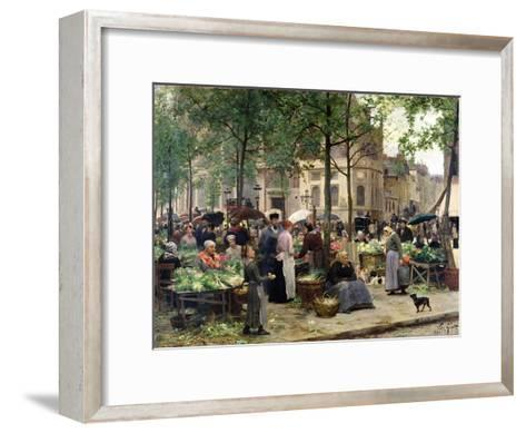 The Square in Front of Les Halles, 1880-Victor Gabriel Gilbert-Framed Art Print