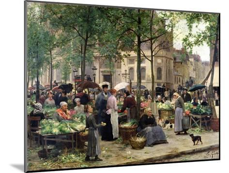 The Square in Front of Les Halles, 1880-Victor Gabriel Gilbert-Mounted Giclee Print