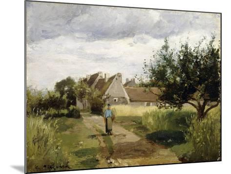 Entrance of a Village, C.1863-Camille Pissarro-Mounted Giclee Print