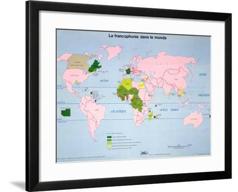 World map of french speaking countries 1985 giclee print by the world map of french speaking countries 1985 framed art print gumiabroncs Choice Image