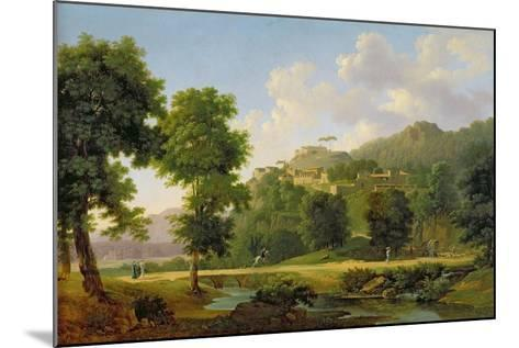 Landscape with a Rider, C.1808-10-Jean Victor Bertin-Mounted Giclee Print