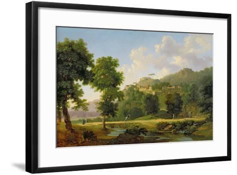 Landscape with a Rider, C.1808-10-Jean Victor Bertin-Framed Art Print