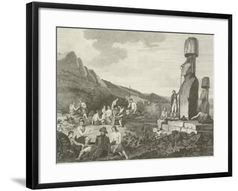 Inhabitants and Monuments of Easter Island--Framed Art Print