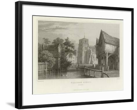 Waltham Abbey, Essex-William Henry Bartlett-Framed Art Print