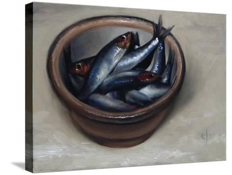 Stoneware Bowl, Full of Sprats, 2013-James Gillick-Stretched Canvas Print