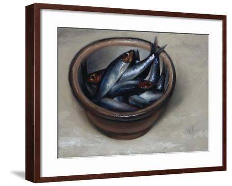 Stoneware Bowl, Full of Sprats, 2013-James Gillick-Framed Art Print