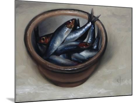 Stoneware Bowl, Full of Sprats, 2013-James Gillick-Mounted Giclee Print