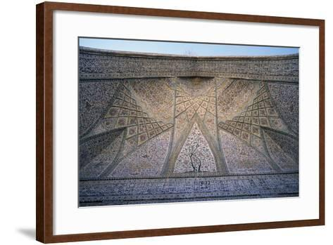 Ceiling of Eastern Iwan of Vakil Mosque--Framed Art Print