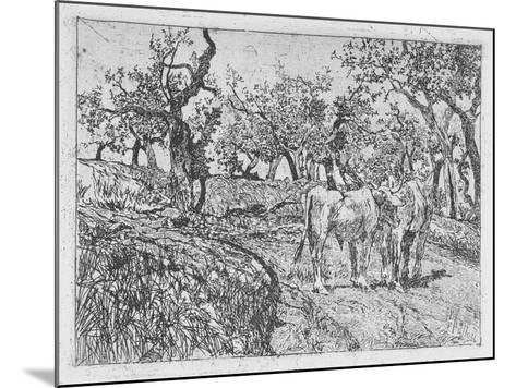 Cattle Amongst Olive Trees-Giovanni Fattori-Mounted Giclee Print