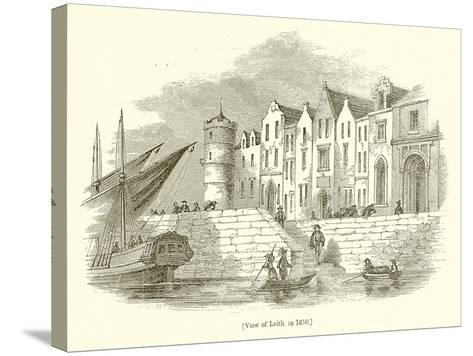 View of Leith, in 1650--Stretched Canvas Print