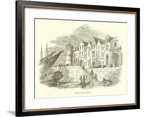 View of Leith, in 1650--Framed Art Print