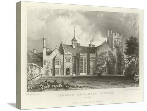 Horeham Hall, Near Thaxted, Essex-William Henry Bartlett-Stretched Canvas Print
