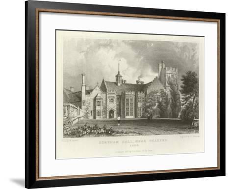 Horeham Hall, Near Thaxted, Essex-William Henry Bartlett-Framed Art Print
