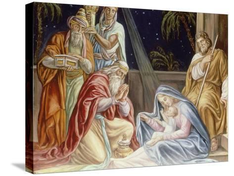 Adoration of the Wise Men-Julius Schnorr von Carolsfeld-Stretched Canvas Print