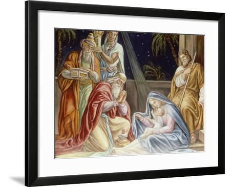 Adoration of the Wise Men-Julius Schnorr von Carolsfeld-Framed Art Print