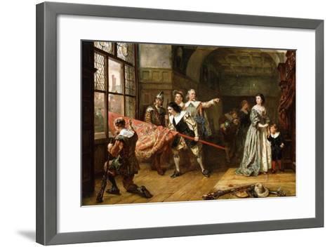 For the King-Robert Alexander Hillingford-Framed Art Print
