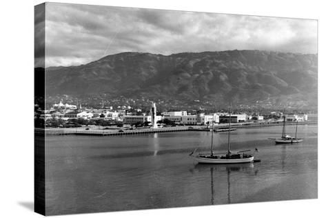 Port-Au-Prince Waterfront, 1954--Stretched Canvas Print
