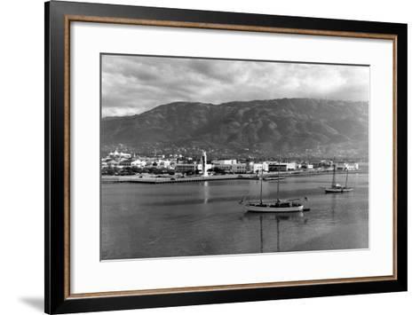 Port-Au-Prince Waterfront, 1954--Framed Art Print