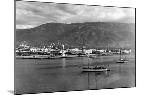 Port-Au-Prince Waterfront, 1954--Mounted Photographic Print