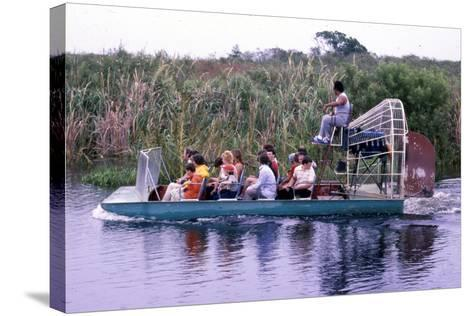 Everglades Airboat Ride, C.1987--Stretched Canvas Print