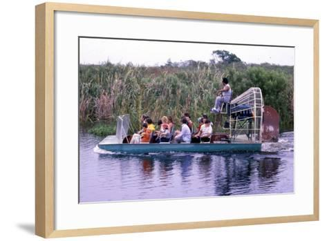 Everglades Airboat Ride, C.1987--Framed Art Print
