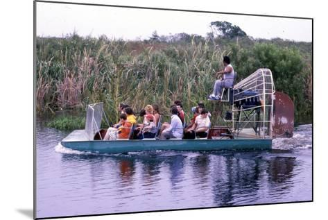 Everglades Airboat Ride, C.1987--Mounted Photographic Print