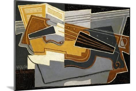 Violin and Clarinet, 1921-Juan Gris-Mounted Giclee Print