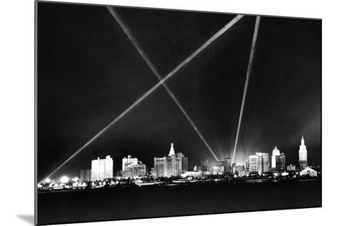 Downtown Miami Skyline at Night, 1926--Mounted Photographic Print