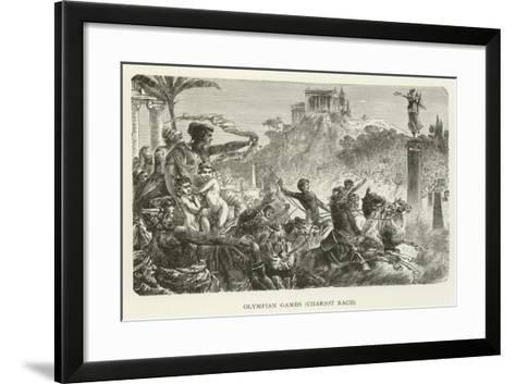 Olympian Games, Chariot Race--Framed Art Print