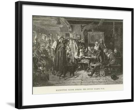 Recruiting Scene During the Seven Year's War--Framed Art Print