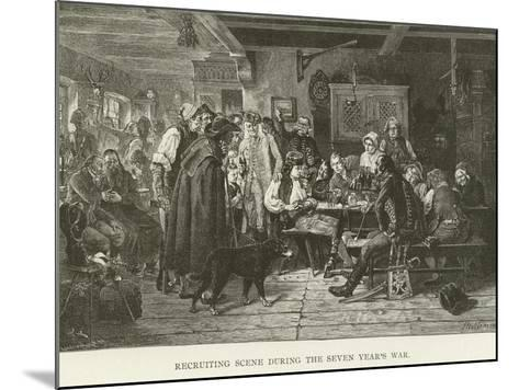 Recruiting Scene During the Seven Year's War--Mounted Giclee Print