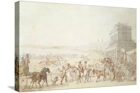 Brighton Races, 1816-Thomas Rowlandson-Stretched Canvas Print
