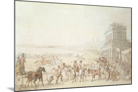 Brighton Races, 1816-Thomas Rowlandson-Mounted Giclee Print