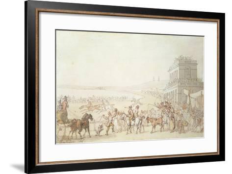 Brighton Races, 1816-Thomas Rowlandson-Framed Art Print