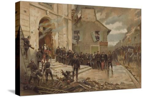 Le Bourget, 30 October 1870-Alphonse Marie de Neuville-Stretched Canvas Print
