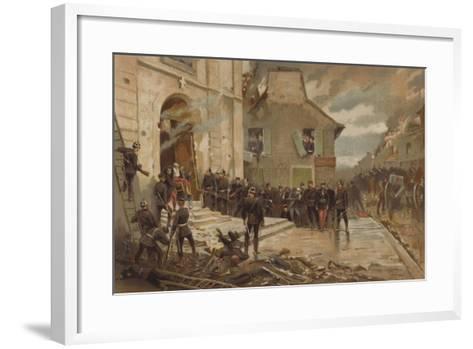 Le Bourget, 30 October 1870-Alphonse Marie de Neuville-Framed Art Print